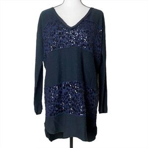 Free People Oversized Sequin Sweater